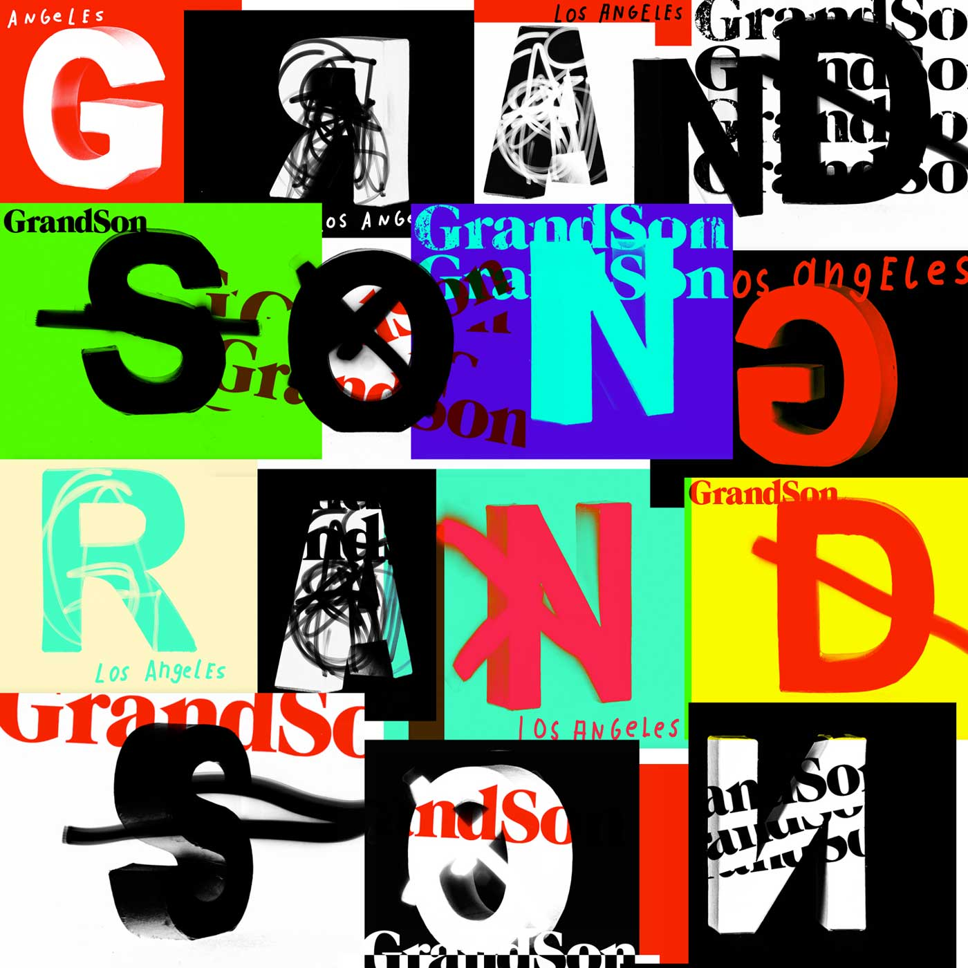 Typographic Poster for GrandSon Los Angeles by Jens Wagner